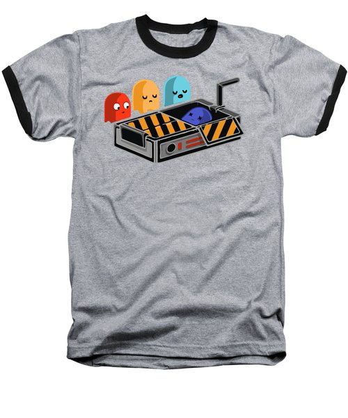 Dead Ghost Baseball T-Shirt by Opoble Opoble