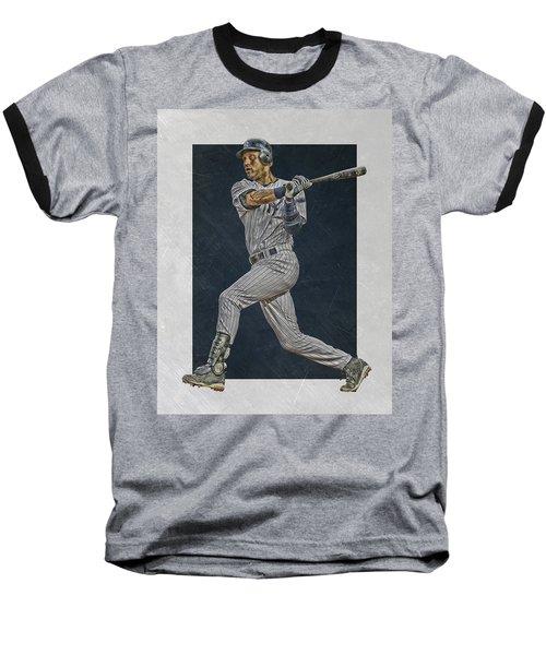Derek Jeter New York Yankees Art 2 Baseball T-Shirt by Joe Hamilton