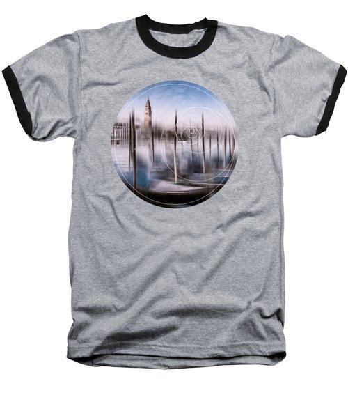 Digital-art Venice Grand Canal And St Mark's Campanile Baseball T-Shirt by Melanie Viola