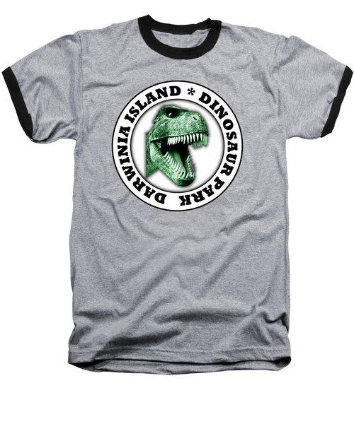 Dinosaur Park Baseball T-Shirt by Gaspar Avila