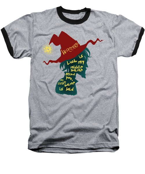 Discworld - Rincewind Baseball T-Shirt by Sator