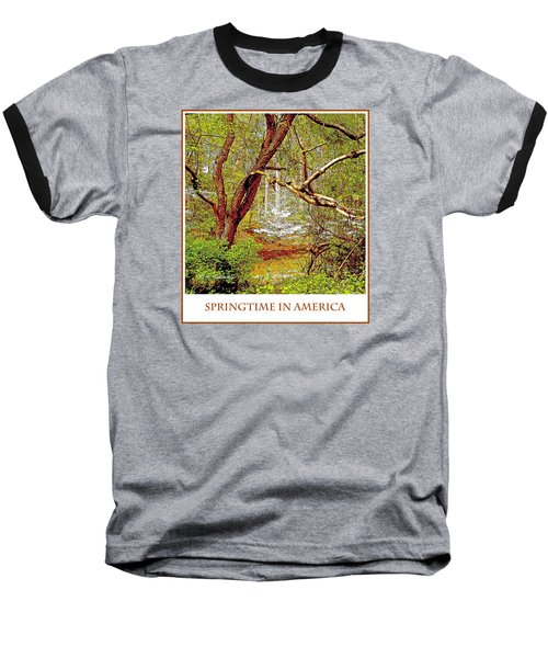 Baseball T-Shirt featuring the photograph Dogwood Tree In Spring by A Gurmankin