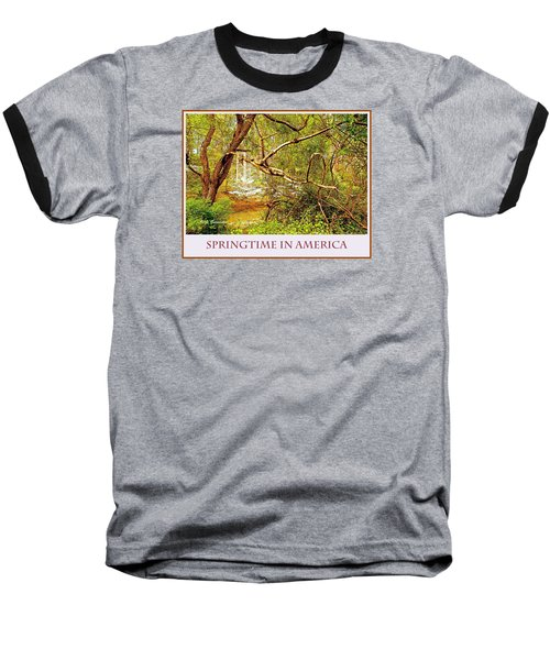 Baseball T-Shirt featuring the photograph Dogwood Tree In The Forest Spring by A Gurmankin