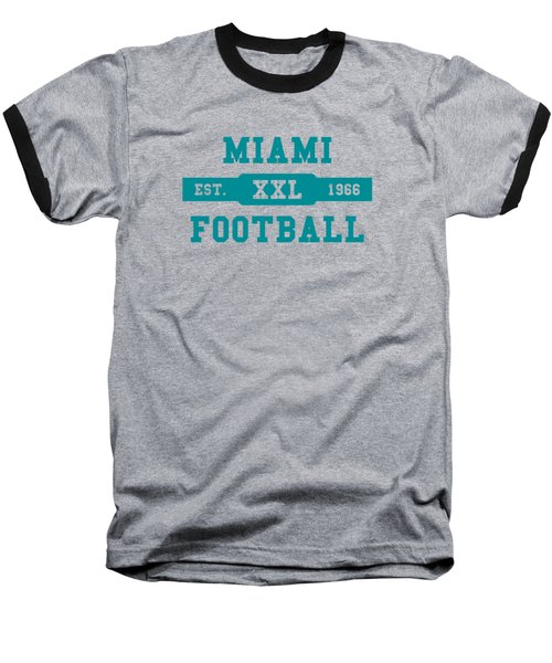 Dolphins Retro Shirt Baseball T-Shirt by Joe Hamilton