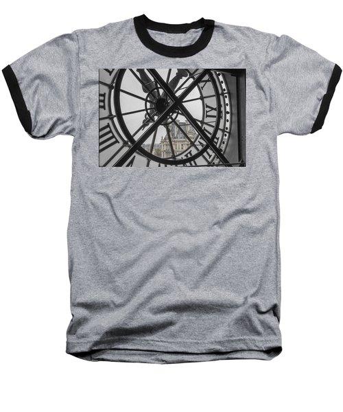 D'orsay Clock Paris Baseball T-Shirt by Joan Carroll