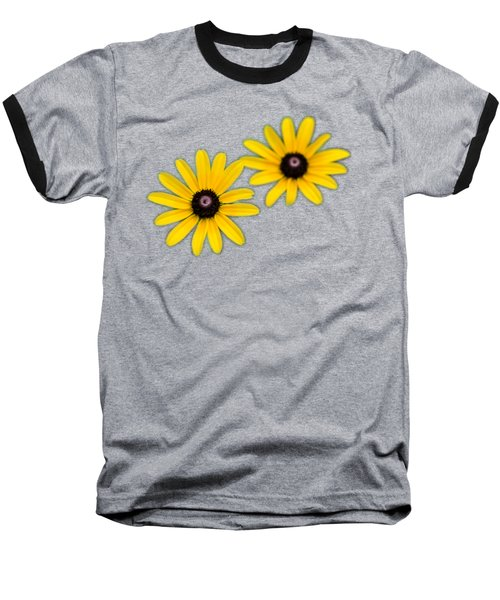 Double Daisies Baseball T-Shirt by Christina Rollo