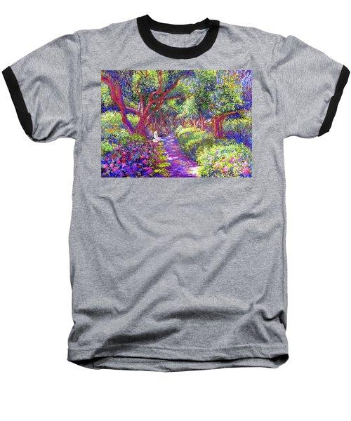 Dove And Healing Garden Baseball T-Shirt by Jane Small