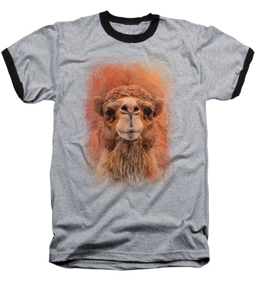 Dromedary Camel Baseball T-Shirt by Jai Johnson