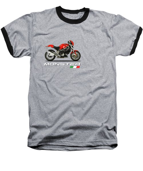 Ducati Monster S4 Sps Baseball T-Shirt by Mark Rogan