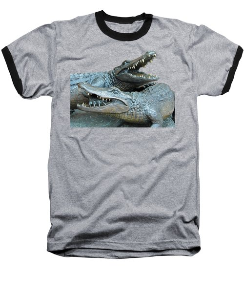 Dueling Gators Transparent For Customization Baseball T-Shirt by D Hackett