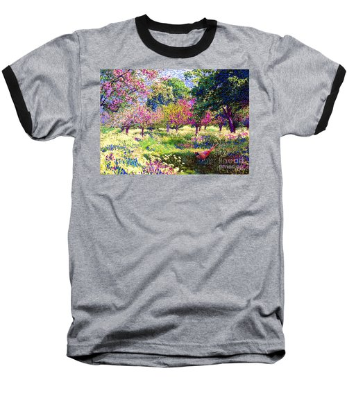 Echoes From Heaven, Spring Orchard Blossom And Pheasant Baseball T-Shirt by Jane Small