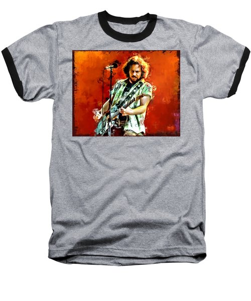 Eddie Vedder Painting Baseball T-Shirt by Scott Wallace