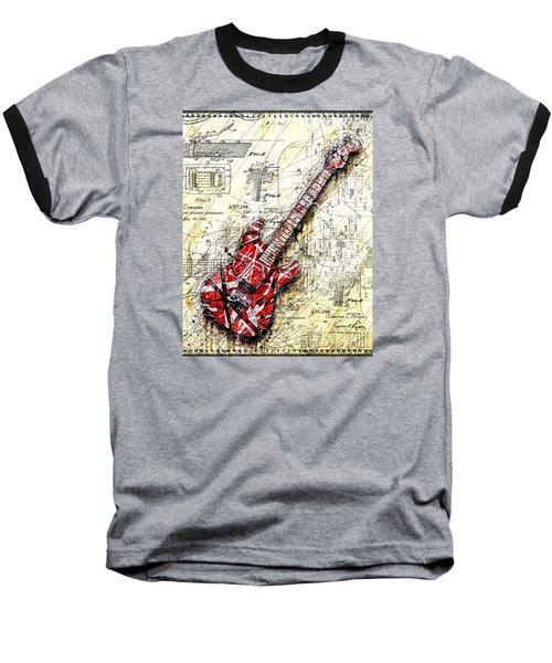 Eddie's Guitar 3 Baseball T-Shirt by Gary Bodnar