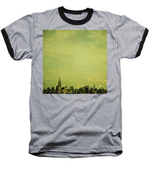 Escaping Urbania Baseball T-Shirt by Andrew Paranavitana