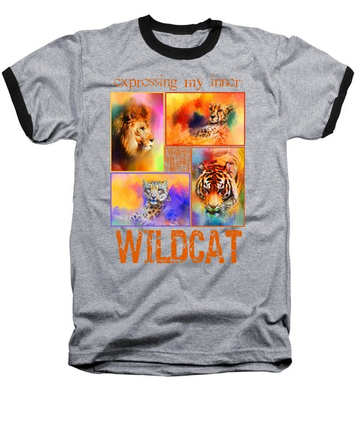 Expressing My Inner Wildcat Baseball T-Shirt by Jai Johnson