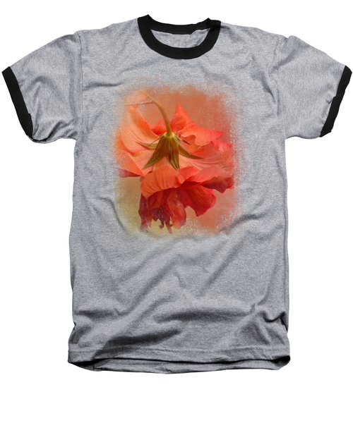 Falling Blossom Baseball T-Shirt by Jai Johnson