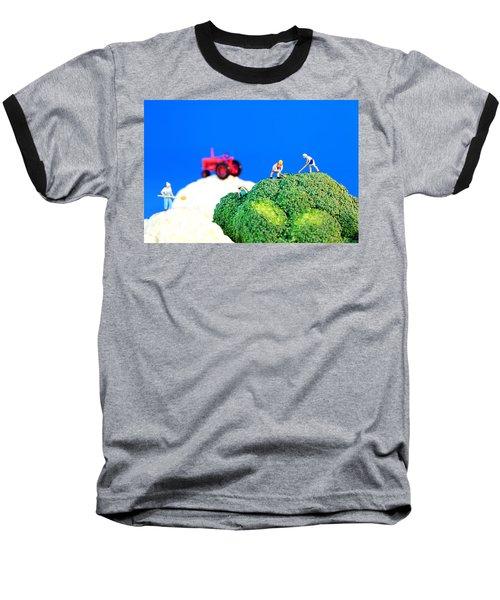 Farming On Broccoli And Cauliflower II Baseball T-Shirt by Paul Ge