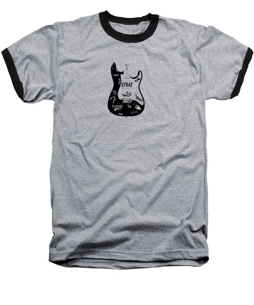 Fender Stratocaster 54 Baseball T-Shirt by Mark Rogan