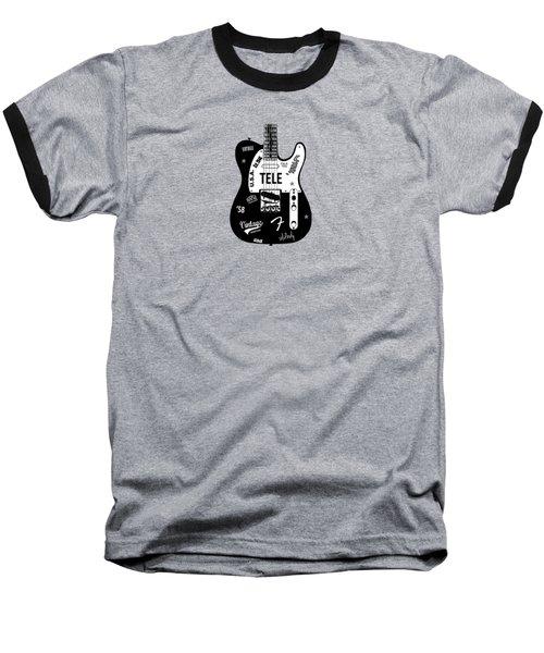 Fender Telecaster 58 Baseball T-Shirt by Mark Rogan