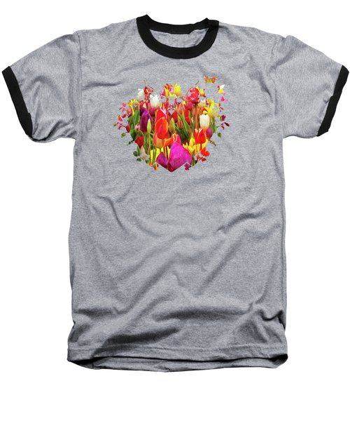 Field Of Tulips Baseball T-Shirt by Thom Zehrfeld