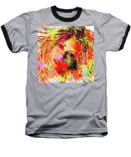 Flowery Shakira Baseball T-Shirt by Navo Art