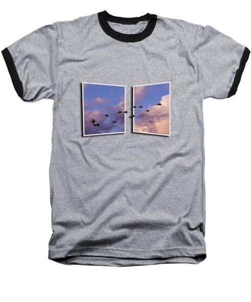 Flying Across Baseball T-Shirt by Roger Wedegis