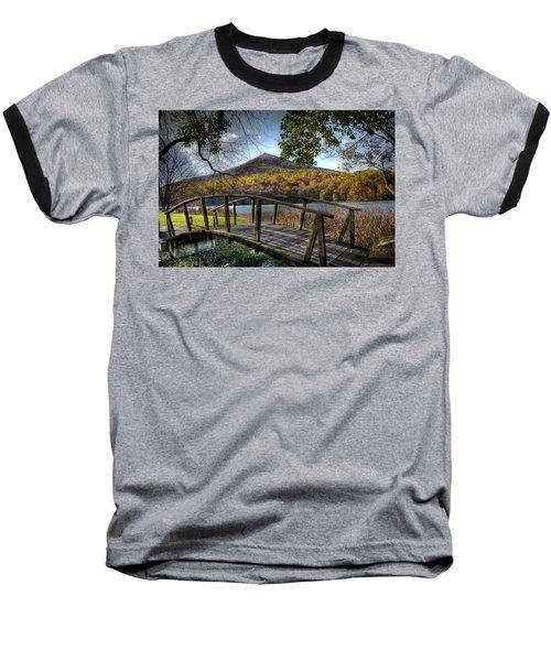 Foot Bridge Baseball T-Shirt by Todd Hostetter