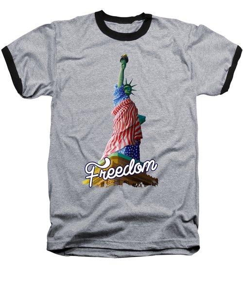Freedom Baseball T-Shirt by Anthony Mwangi