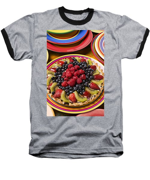 Fruit Tart Pie Baseball T-Shirt by Garry Gay