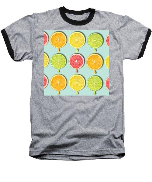 Fruity Baseball T-Shirt by Mark Ashkenazi
