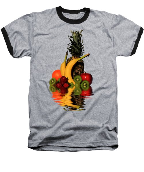 Fruity Reflections - Medium Baseball T-Shirt by Shane Bechler