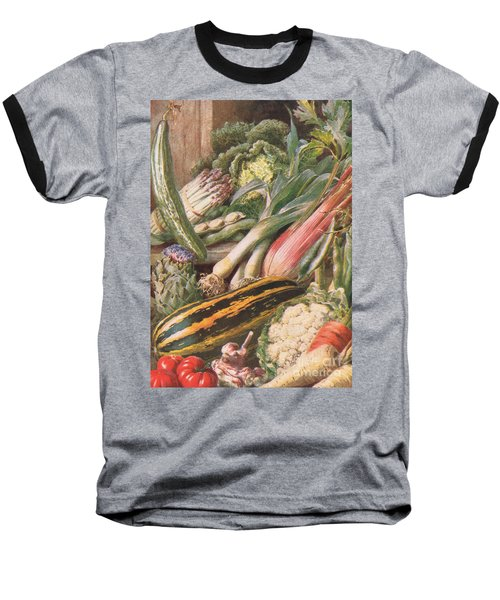 Garden Vegetables Baseball T-Shirt by Louis Fairfax Muckley