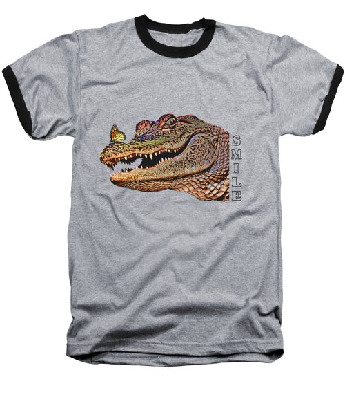 Gator Smile Baseball T-Shirt by Mitch Spence