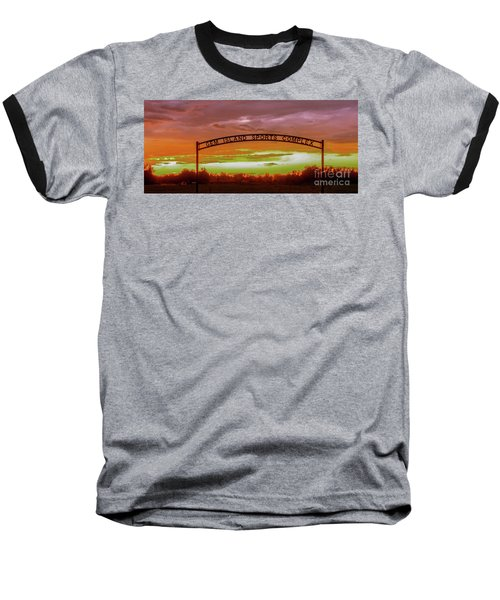 Gem Island Sports Complex Baseball T-Shirt by Robert Bales