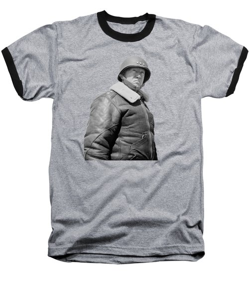 General George S. Patton Baseball T-Shirt by War Is Hell Store