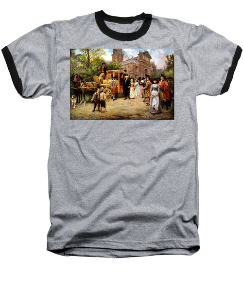 George Washington Arriving At Christ Church Baseball T-Shirt by War Is Hell Store