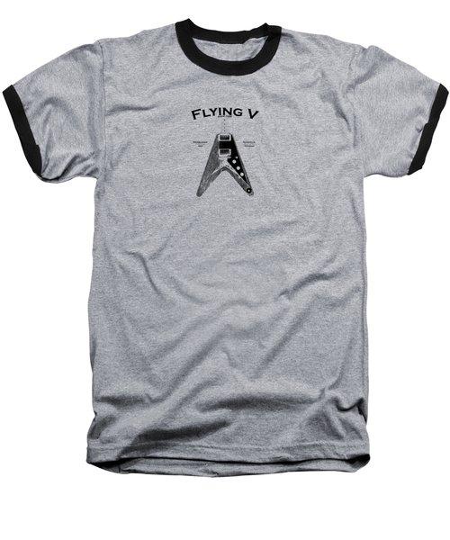 Gibson Flying V Baseball T-Shirt by Mark Rogan