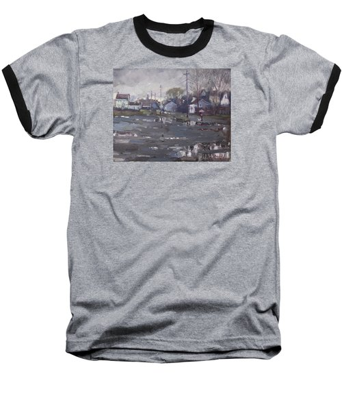 Gloomy And Rainy Day By Hyde Park Baseball T-Shirt by Ylli Haruni