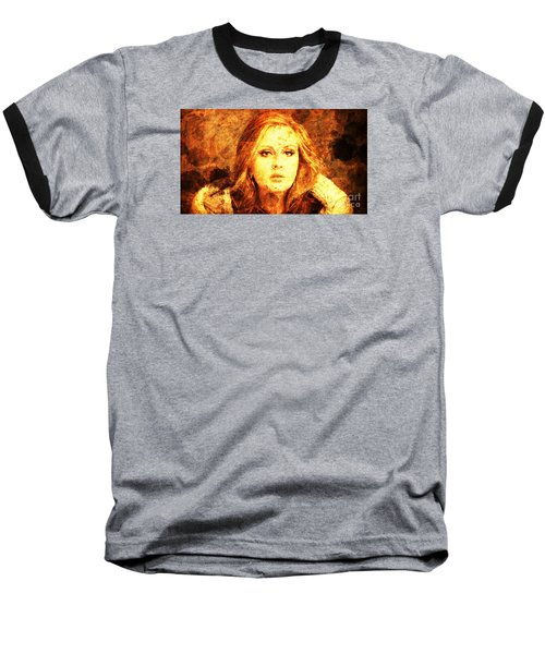 Golden Adele Baseball T-Shirt by Pablo Franchi