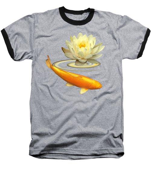 Golden Harmony Square Baseball T-Shirt by Gill Billington