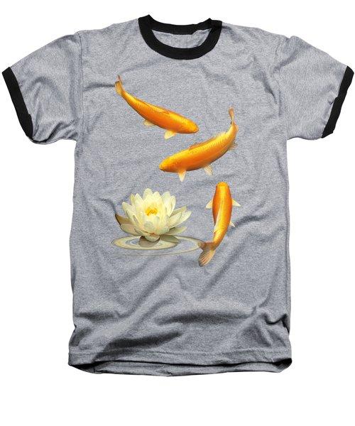 Golden Harmony Vertical Baseball T-Shirt by Gill Billington