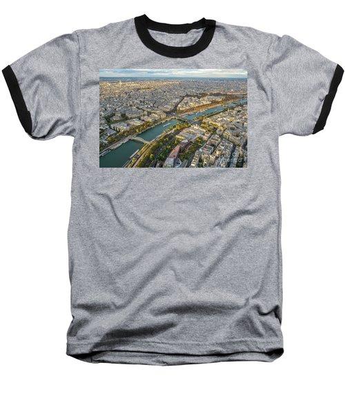 Golden Light Along The Seine Baseball T-Shirt by Mike Reid