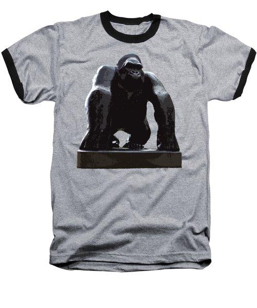 Gorilla Art Baseball T-Shirt by Francesca Mackenney