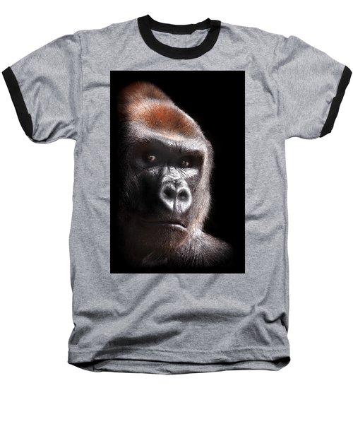 Gorilla ... Kouillou Baseball T-Shirt by Stephie Butler