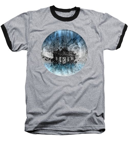 Graphic Art Berlin Brandenburg Gate Baseball T-Shirt by Melanie Viola
