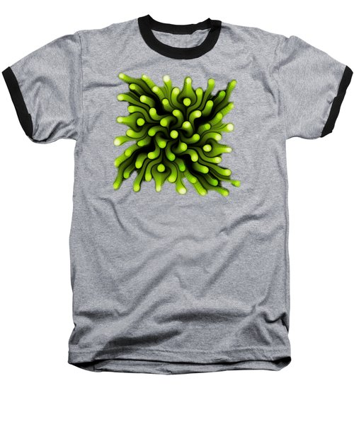 Green Sea Anemone Baseball T-Shirt by Anastasiya Malakhova