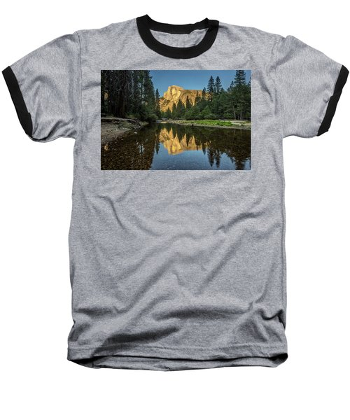 Half Dome From  The Merced Baseball T-Shirt by Peter Tellone