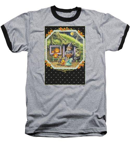 Halloween Treats Baseball T-Shirt by Lynn Bywaters