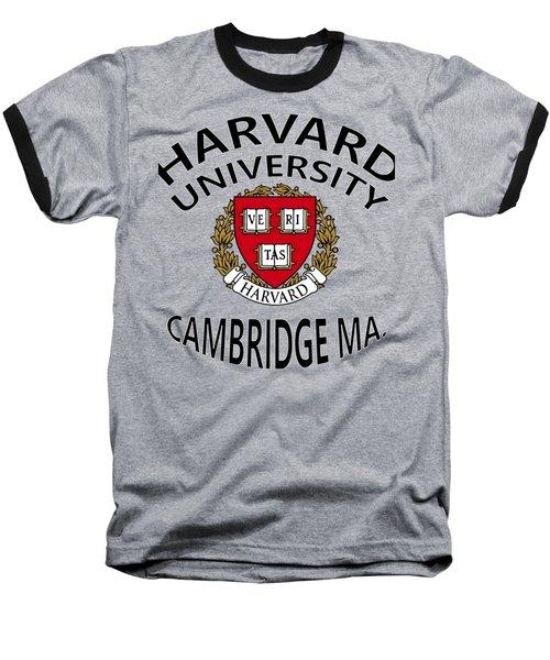 Harvard University Cambridge M A  Baseball T-Shirt by Movie Poster Prints