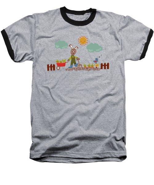 Harvest Time Baseball T-Shirt by Kathrin Legg